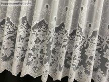 Függöny készre vart csatos feher színű 400 cm szeles 180 cm magas
