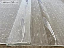 Függöny folyómeter (1220-24) lenes voal féheralapon féher színű 280 cm magas