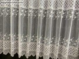 Készre vart függöny  zsakart rombusz fehér színű 500 cm szeles 200 cm magas