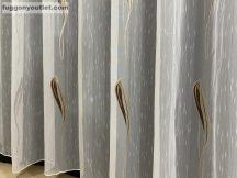 függöny készre vart (1220barna3) Fehér alapon barna  300cm szeles 260cm magas
