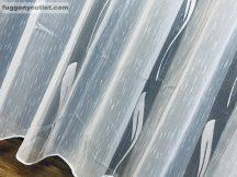 Kesz függöny (1220feher3) fehèr alapon fehèr színű 300 cm szeles 260 cm magas