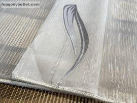 Kesz függöny (1220szurke5) fehèr alapon szürke  színű 500 cm szeles 260 cm magas