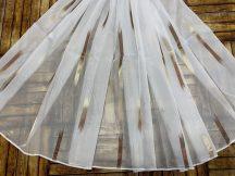 Függöny folyómeter (15010-07) lenes voal féheralapon barna színű 280 cm magas