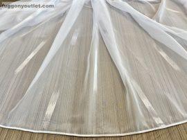 Függöny folyómeter (15010-24) lenes voal féheralapon féher színű 280 cm magas