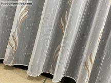 függöny készre vart (20044-vilagosbarna) Fehér alapon vilagos barna 300cm szeles 260cm magas