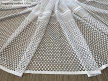Készre vartt függöny Lyukacsos fehér színű 300 cm szeles 155 cm magas