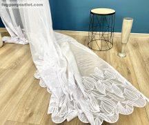 függöny Készre vartt leveltömeg fehér  színű 300cm szeles 200 cm magas