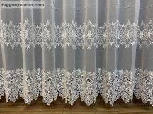Csipkés függöny méterben virag tört fehér színű 280 magas (kétsoros csipkes)