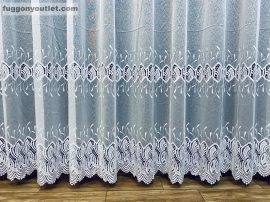 Csipkés függöny méterben szablecsipkes fehér színű 280 magas (kétsoros csipkes)