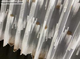 Függöny készre vart parkettas fehér barna  színű 400 cm szeles 260 cm magas