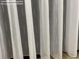 függöny készre vart (4711feher) Fehér szinü 400cm szeles 200cm magas