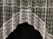 Csipkes kesz függöny gorogmintas panaromas fehèr színű 300 cm szeles 210 cm magas