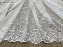 függöny készre vart (voal-himzet5) fehér szinü 500 cm szeles 180 cm magas