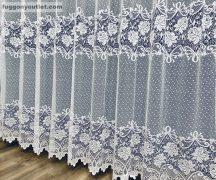 Kesz függöny sorrozsa fehér színű 500 cm szeles 250 cm magas