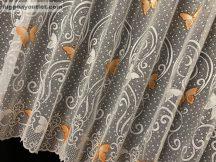 Függöny készre vart pillango fehér narancs színű 400 cm szeles 180 cm magas