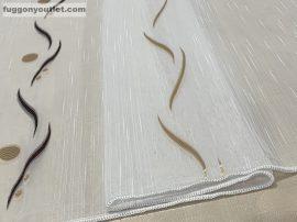 függöny készre vart (pdvbarna) Fehér alapon barna 500cm szeles 210cm magas