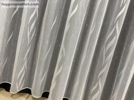 Készre vartt függöny 500 cm szeles 180cm magas Lenesvoile fehér szinü