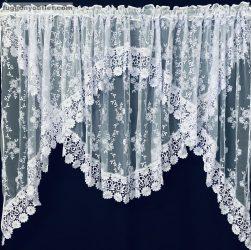 Csipkes kesz függöny panaromas (20 cm fehér csipke) fehèr színű 400 cm szeles 160 cm magas