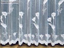 Készre vartt függöny Kálavirag fehér színű 300 cm szeles 150 cm magas
