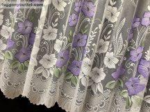 Készre vartt függöny ibolyavirag fehér lila színű 400cm szeles 180cm magas