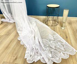 függöny Készre vartt leveltömeg fehér  színű 300cm szeles 180cm magas
