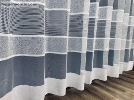 Készre vartt függöny bordasos féher  színű 500cm szeles 280cm magas