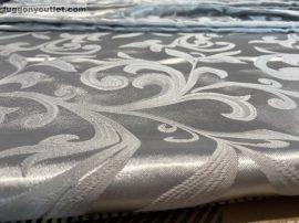 Kész  sötétítő függöny selyem szürke színű ( 2 db =140 cm széles 260 cm magas )