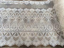 Vitrázs függöny keleti krem színű 60 cm magas
