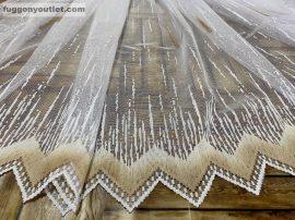 Függöny készre vart palcikas feher barna színű 300 cm szeles 180 cm magas