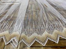 Függöny készre vart palcikas feher barna színű 500 cm szeles 180 cm magas