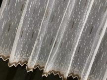 Készre vartt függöny viragos feher barna palcika  400cm  szeles 180cm magas