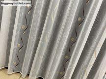 Készre vartt függöny 300cm szeles 200cm magas Lenesvoile fehéralap barna arany színű