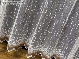 Készre vartt függöny palcikas fehér barna színű 400 cm szeles 250cm magas
