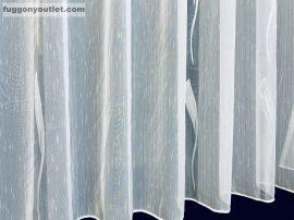 Készre vartt függöny lenn voal fehér alapon fehèr színű  500cm szeles 160cm magas