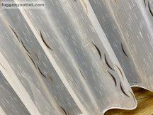 függöny készre vart (csoki barna mogyoro arany holdok ) Fehér alapon csoki barna szinü 300cm szeles 260cm magas