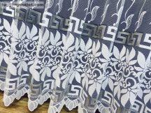 Kesz függöny (görögmintas) fehér szürke színű 400 cm szeles 250 cm magas