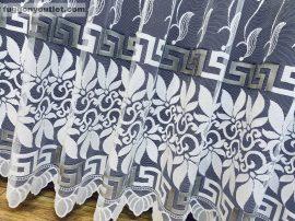 Kesz függöny (görögmintas) fehér szürke színű 500 cm szeles 250 cm magas