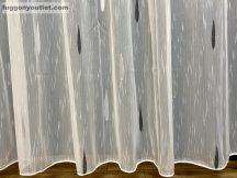 függöny készre vart (Nagy csep 3 ) Fehér alapon fekete 300cm szeles 260cm magas