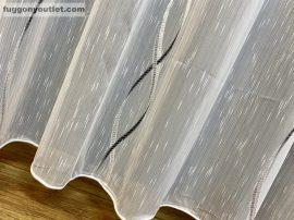 függöny készre vart (Vegtelen 3 ) Fehér alapon fekete 300cm szeles 260cm magas