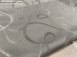 Kész  sötétítő függöny selyem szürke színű ( 2 db =140 cm széles 180 cm magas )