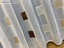 Kesz függöny ( koszka csokibarna arany ezust3) krem alapon csokibarna arany ezüst színű 300 cm szeles 260 cm magas