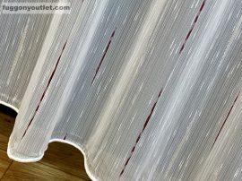 függöny készre vart (palcikas bordo )lenn voal Fehér alapon bordo szinü 300cm szeles 260cm magas