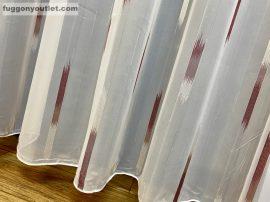 függöny készre vart (parkettas bordo 3)lenn voal Fehér alapon bordo szinü 300cm szeles 260cm magas