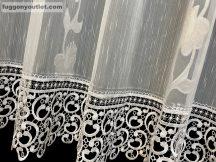Csipkes kesz függöny  (20 cm fehér csipke) fehèr színű 400 cm szeles 160 cm magas