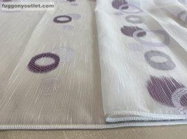 függöny készre vart (karikas lila-3)Fehér alapon lila szinü 300cm szeles 260cm magas