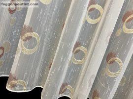 Készre vartt  függöny celen Lennes voile fehér alapon terra színű 400cm szeles 180cm magas