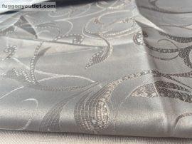 Kész  sötétitő függöny indaslevel selyem szürke színű ( 2 db =140 cm széles 180 cm magas )