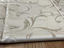 kész függöny sötétitő leveles selyem Krem  színű ( 2 darab =140 cm szeles 260 cm magas )