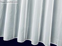Készre vartt függöny sima voal fehér színű 300 cm széles 220 cm magas