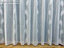 Készre vartt függöny lenn voal fehér alapon fehèr színű  300cm szeles 150cm magas 216031647